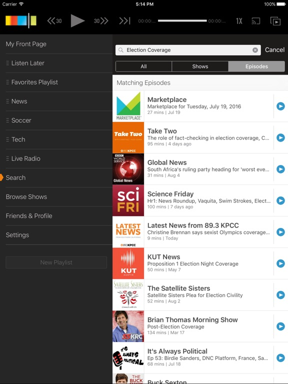 Stitcher Radio for Podcasts Screenshot