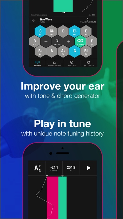Tunable: Tuner, Metronome, and Recorder app image