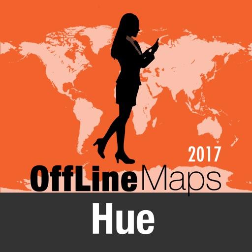 Hué mapa offline y guía de viaje