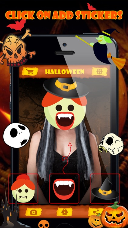 Halloween Emoji Stickers Pro - Face Photo Makeup