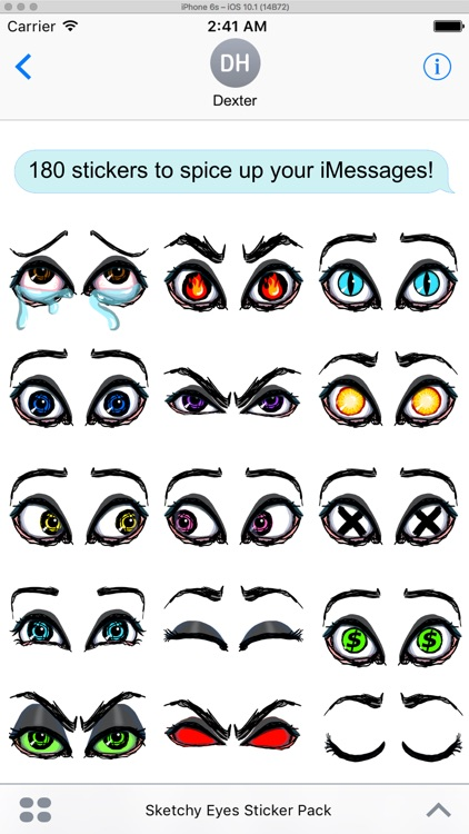 Sketchy Eyes add Expression to Texts Faces and Pix screenshot-4