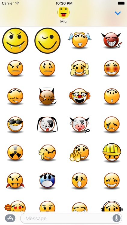 Lotsa Smileys for iMessage screenshot-3