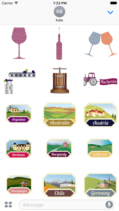 Wine Spectator Stickers 2 Screenshot