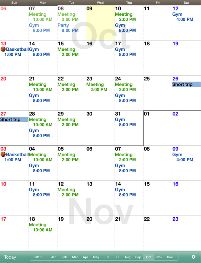 Weekly Calendar App Mac : Monthly calendar mocahd on the app store