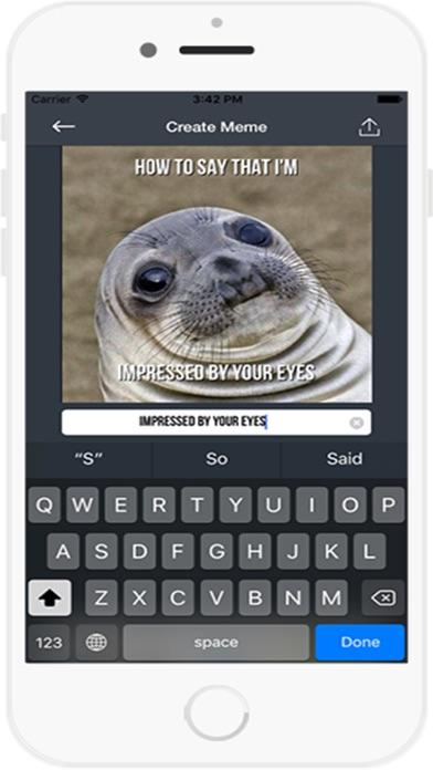 Meme Generator Kostenlose AppScreenshot von 4