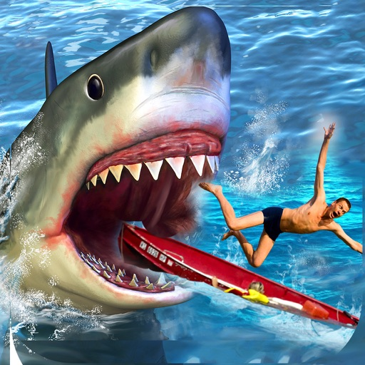 Shark attack simulator 3d great white real fish fighting for Shark fishing games