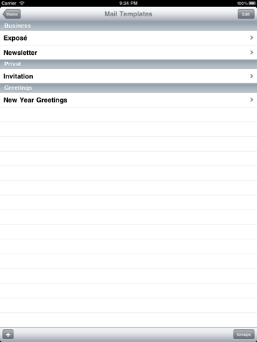 Screenshot of Mailer - Newsletters and Group Mail with HTML
