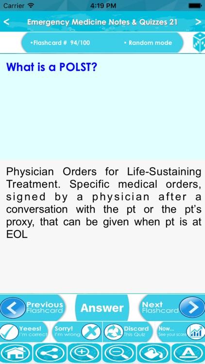 Emergency Medicine Exam Review App : 5200 Q&A screenshot-3