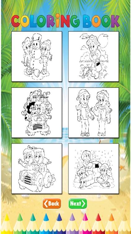 Family Coloring Book - Activities for Kids screenshot-3