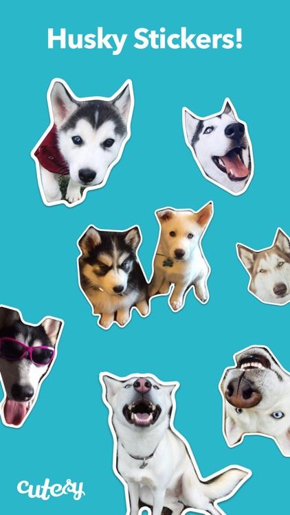 Husky Stickers by Cutesy