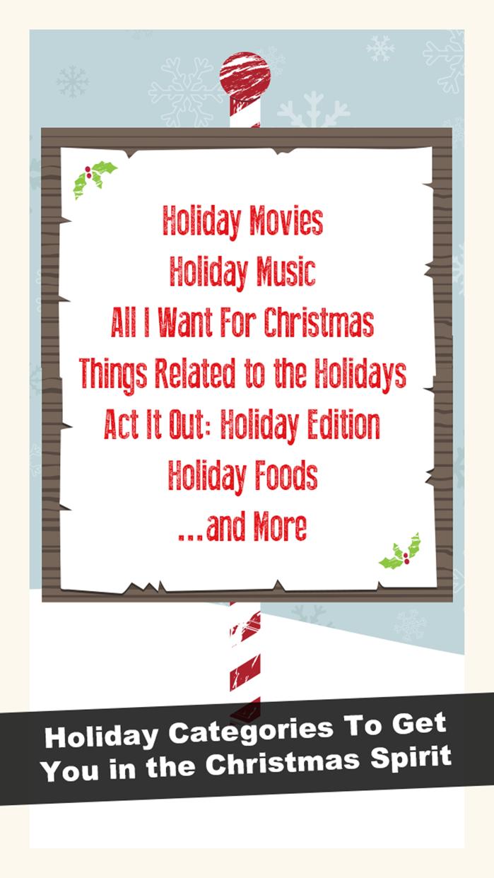 Holiday Charades! Screenshot