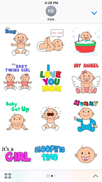 My First Steps - New Born Baby Stickers Pack screenshot-3
