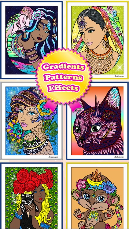 Adult Coloring Books Anti Stress Cats Pages Games screenshot-4