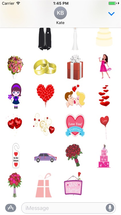Adorable Wedding Stickers for iMessage screenshot-3