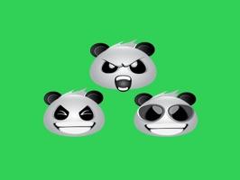 Panda Face Emoji - Sticker