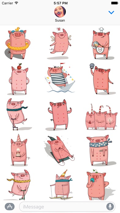 Cute Pig - Stickers for iMessage