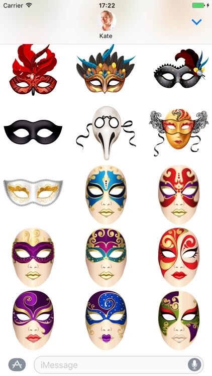 Carnival Mask - Stickers for iMessage screenshot-3