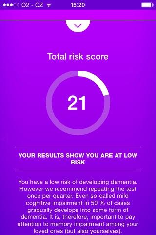 Dementia Test - risk calculator of dementia - náhled