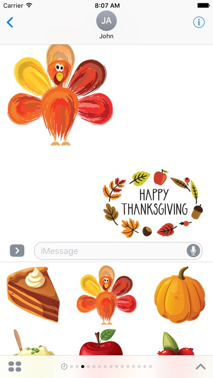 Thanksgiving Stickers #1