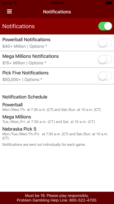 Nebraska Lottery screenshot three