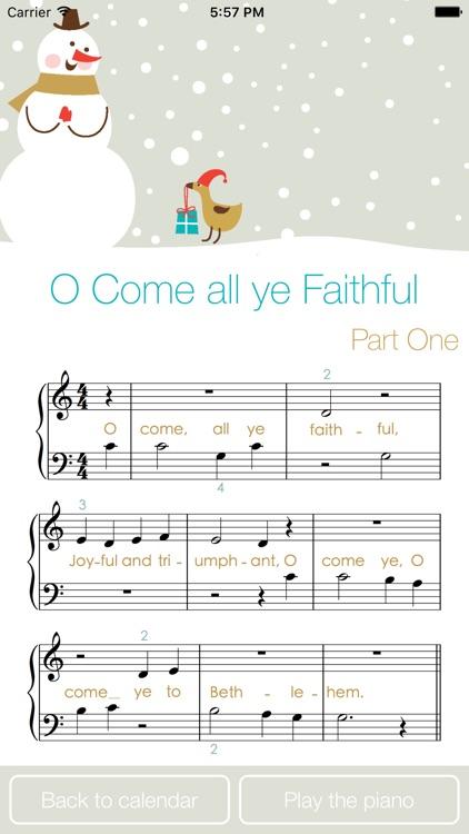 Piano Advent Calendar - Christmas with Music Smart