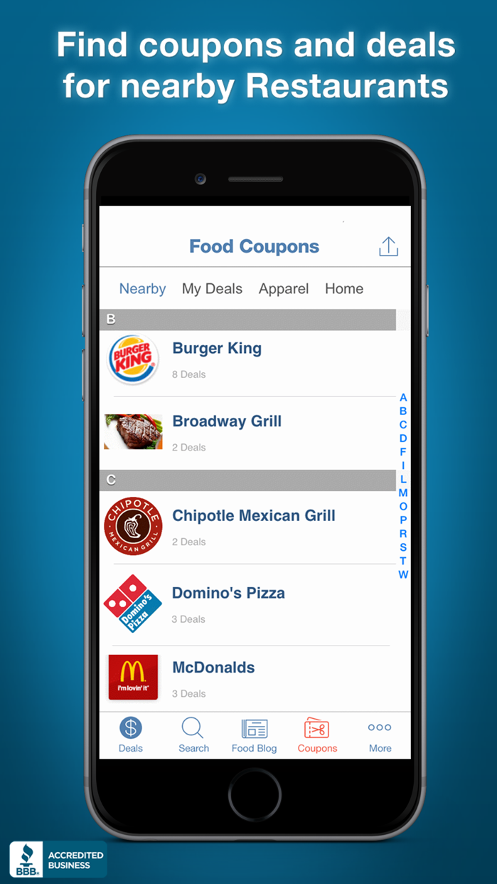 Food Coupons, Fast Food Restaurant Mcdonalds Pizza Screenshot