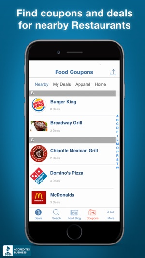 Best food coupon apps for iphone