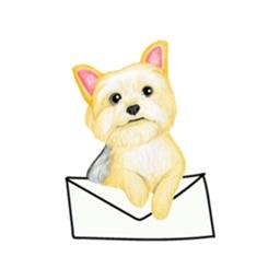 Cute Terrier Dog Sticker