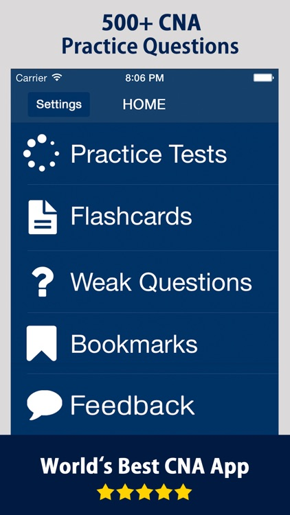 CNA Practice Exam Prep 2018 screenshot-0