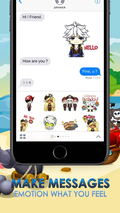 Pirates Emoji Stickers Keyboard Themes ChatStick