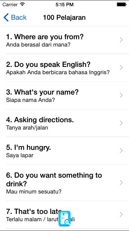 English Study for Indonesian Speakers - Inggris screenshot-3