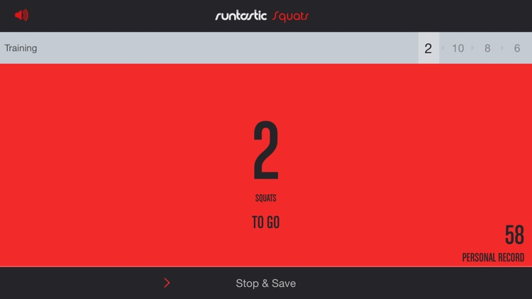 Runtastic Squats Trainer PRO screenshot-1