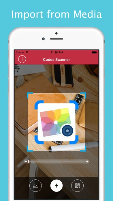 QR Codes Reader and Barcode Scanner Screenshot on iOS