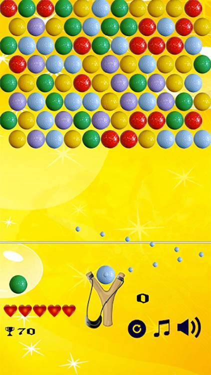 Bubble Shooter Golf Balls