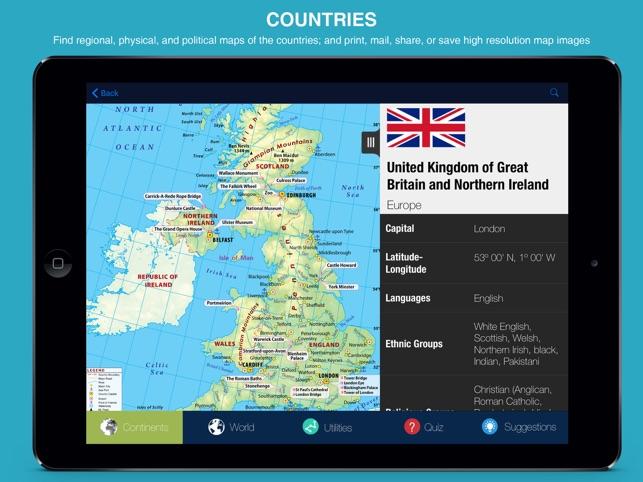 World atlas pro on the app store world atlas pro on the app store gumiabroncs Image collections