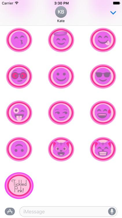 Tickled Pink! (Pinktastic Emoji Stickers)