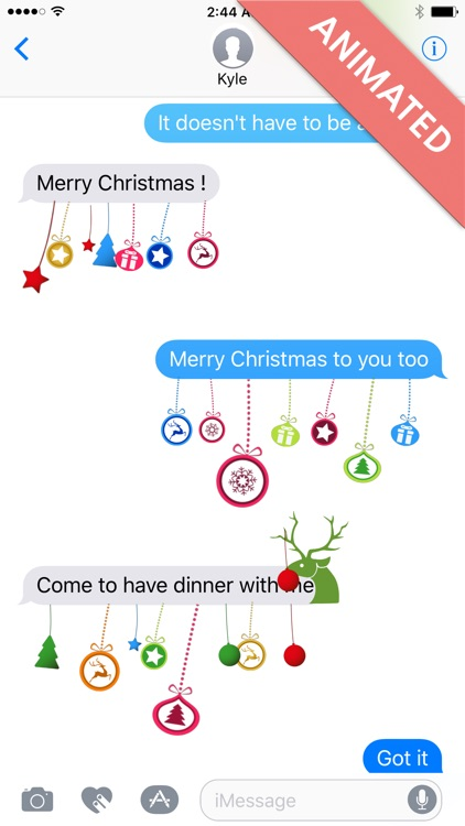 Xmas Deco:Animated Christmas Stickers for iMessage screenshot-0