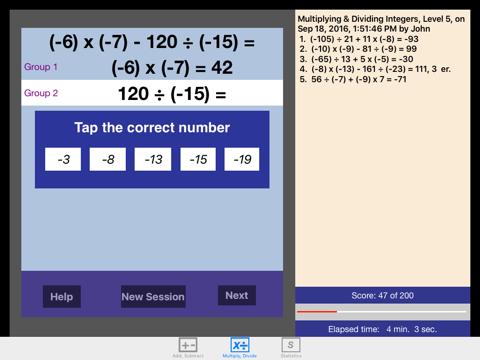 Math Integers screenshot 2