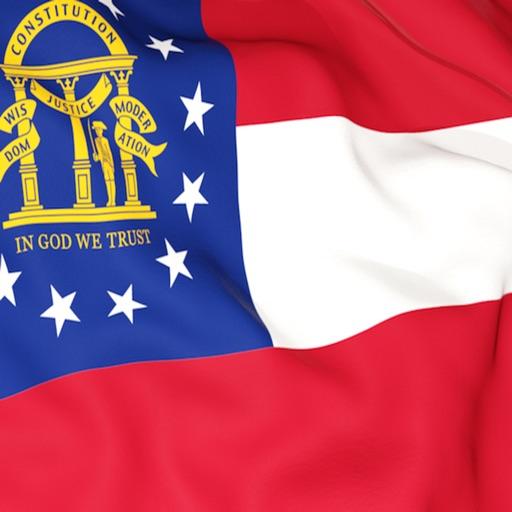 Georgia Flag Stickers