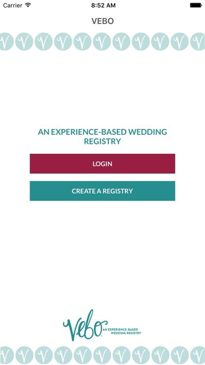 VEBO Couple - Online Wedding Registry