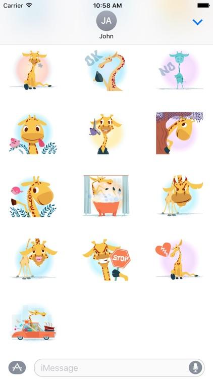 Giraffe Sticker screenshot-3