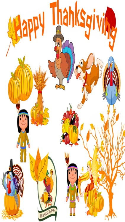 HD Thanksgiving Stickers