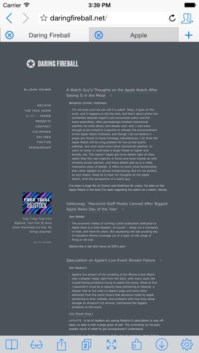 iCab Mobile (Web Browser) ScreenShot0