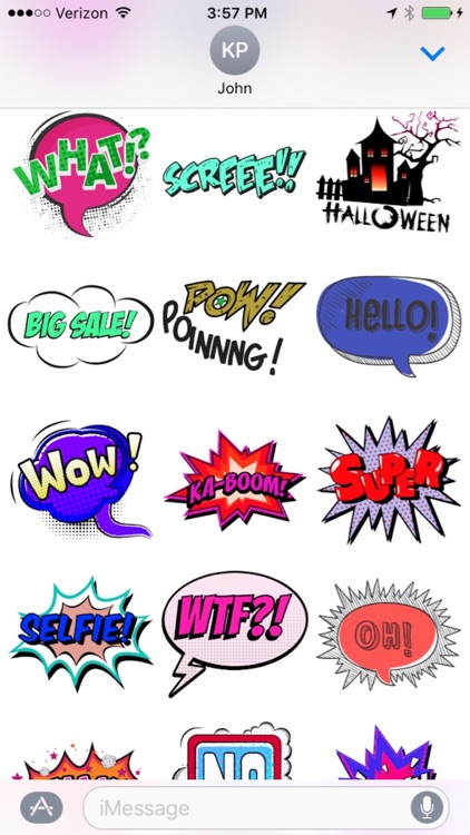 Comic Stickers for iMessages screenshot-2