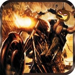 Moto X Stunt Bike Racing Halloween Hill Climb