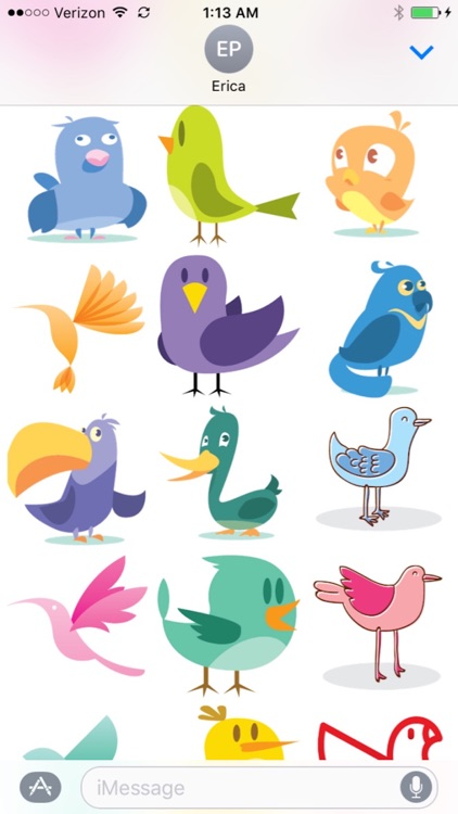 Bird stickers for iMessages