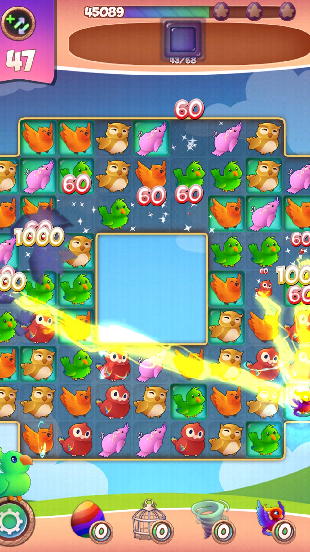 Birds: Free Match 3 Games Cheat Codes