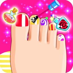 Foot Nail Makeover - Kids Spa girls games