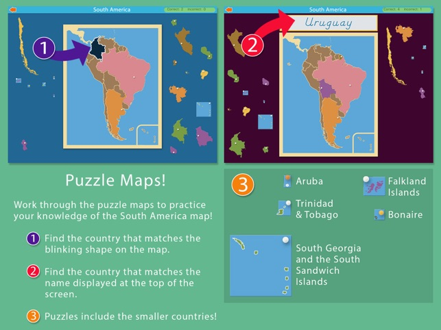 South America - Montessori Geography Screenshot