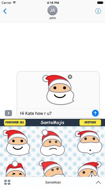 SantaMojis - Add Cool Santa Emojis to Messages